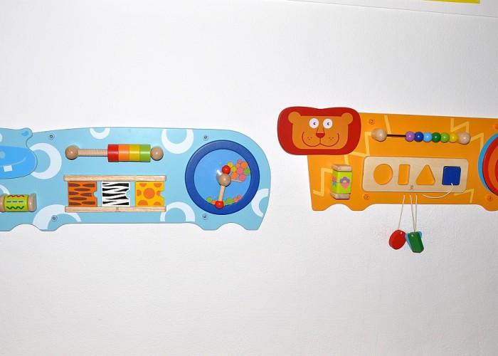 Wandspiele in der Kinderkrippe