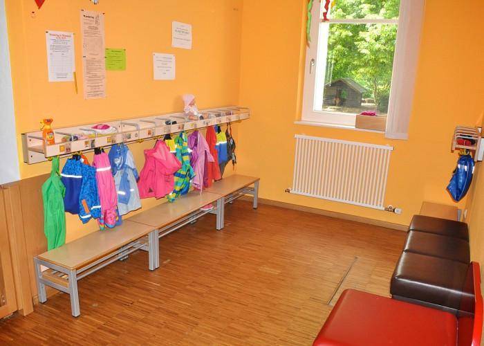 Garderobe in der Kinderkrippe